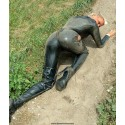 Anne in wet catsuit