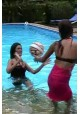 W97 Maj and Nean in the pool (movie)